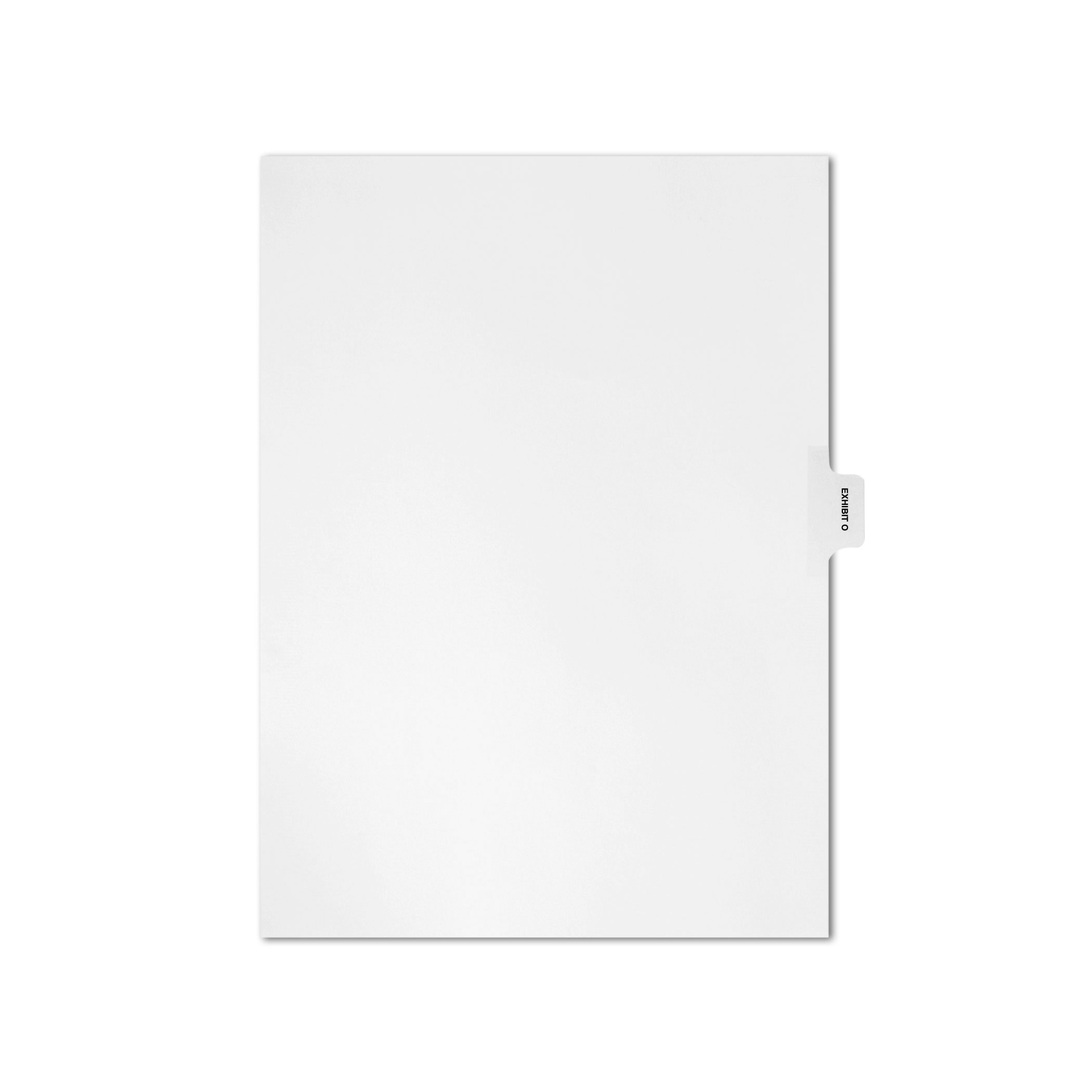 AMZfiling Individual Legal Index Tab Dividers, Compatible with Avery- Exhibit O, Side Tabs, Letter Size, White, Position 5 (25 Sheets/pkg)