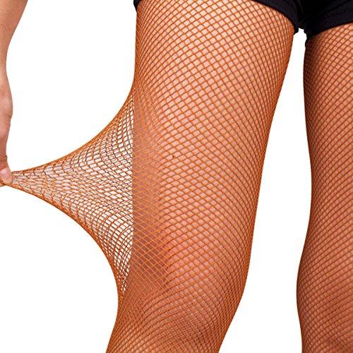 Pitping Professional Latin Dance Pantyhose Stockings Socks Fishnet Seamless Tights Dancing Race (L, Honey)