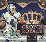 #7: 2016 Panini Crown Royale NFL Football EXCLUSIVE Factory Sealed Retail Box with TWO(2) AUTOGRAPH/MEMORABILIA Cards! Look for Rookies & Autographs of Dak Prescott, Carson Wentz, Ezekiel Elliott & More!