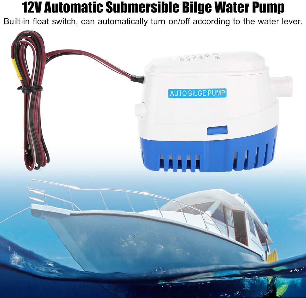 12V 1500GPH Bilge Pump Marine Boat Yacht Submersible Water Pump W// Float Switch