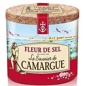 Le Saunier De Camargue Fleur De Sel Sea Salt, 4.4 Ounce Canisters (5 PACK)