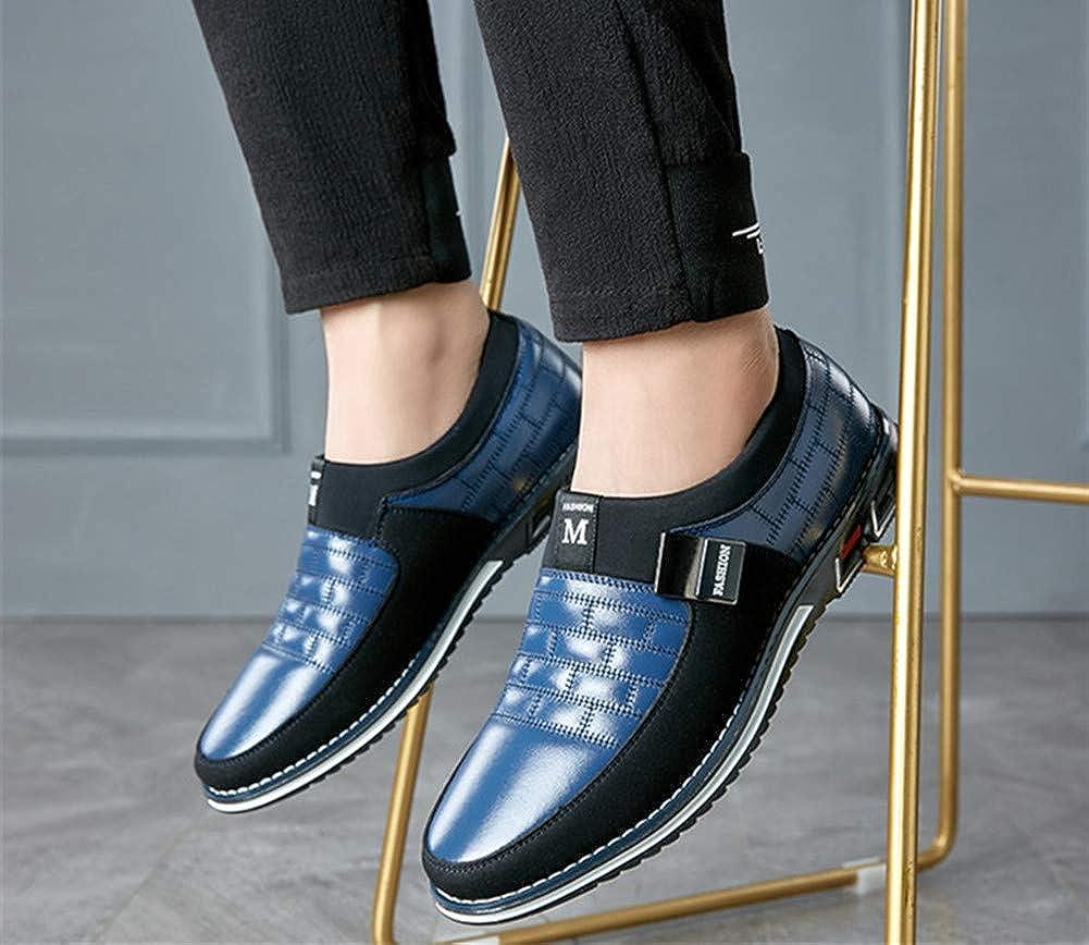 Mocasines Zapatos de Uniforme Cuero de Tobillo Conducci/ón para Hombre Mocas/ín Cl/ásico Barco Zapatos Oficina Negocios sin Cordones Casuales Ligeros para al Aire Libre