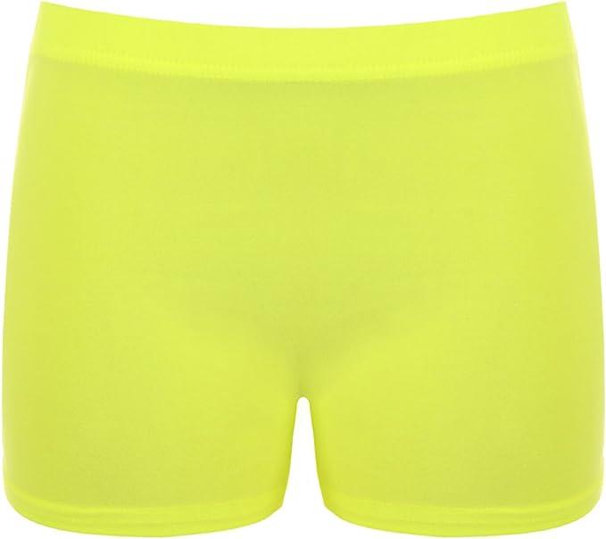 Neon NEU Damen Hotpants aus dünnem Jeans-Stoff Shorts kurze Hose Gr 36//38 SALE
