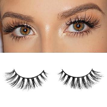 da753e61c37 Amazon.com : Milanté BEAUTY Seductive Real Mink False Lashes Black Natural  Thick Long Full Reusable Fake Strip Eyelashes : Beauty