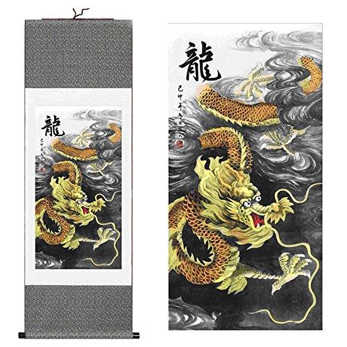 Dragon Painting Chinese Original - sunmir TM Silk scroll painting Chinese Dragon Figure