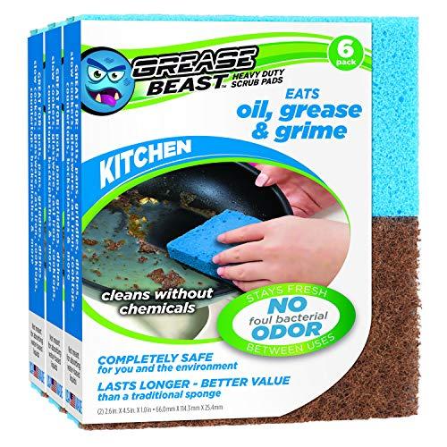 Amazon.com: Esponjas de limpieza de grasa para cocina ...