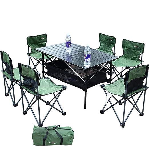 Mesa plegable Juego de mesa y silla plegable para exteriores Leqi ...