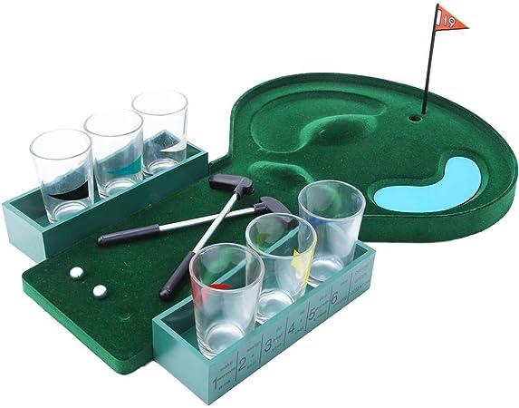 Akozon Juego de Mesa de Golf Juego de Beber Mini Desktop Golf Partido Juego de Beber para Entretenimiento: Amazon.es: Hogar