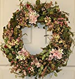 Everyday Berry and Hydrangea Wreath for Front Door