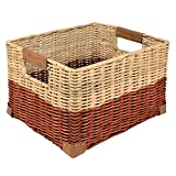 Woven Storage Record Basket, Red