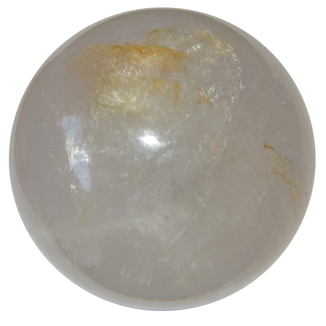 Quartz Ball Clear 79 Mineral Packed Crystal Sphere Earth Harnessed Energy Stone 2.8'' by SatinCrystals