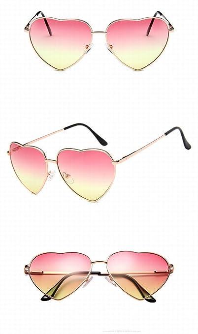 klassische Retro Pfirsich Herz sonnenbrille Männer und frauen Meer Linse Serie Liebe brille sonnenbrille goldrahmen auf dem Grün unter der orange yD7M2s5mN