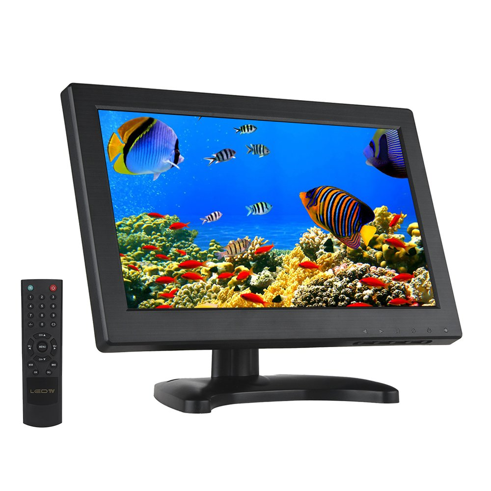 Eyoyo 12 Inch 16:9 Mini TFT LCD HDMI HD Monitor Screen 1366x768 Resolution with HDMI VGA BNC AV Input for PC Display by Eyoyo