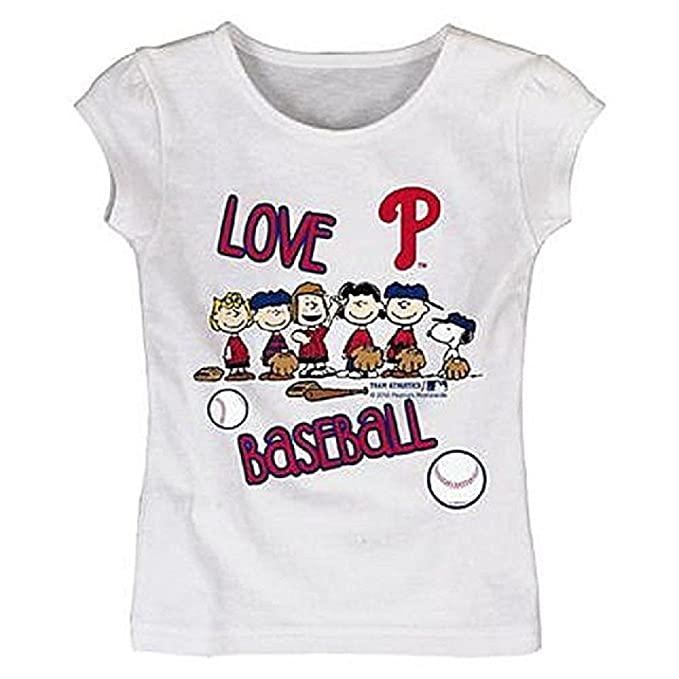 a90fa243c Peanuts Toddler Girl's Graphic Tee-Shirt - Philadelphia Phillies Size 2T
