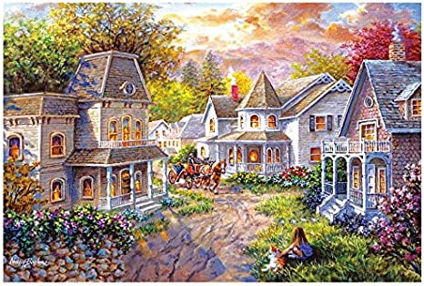 QISHOP 1000 Pieces Large Jigsaw Puzzles for Adults Colorful 30/×20 Inch Puzzles Garden Difficult Puzzle Art for Men and Women