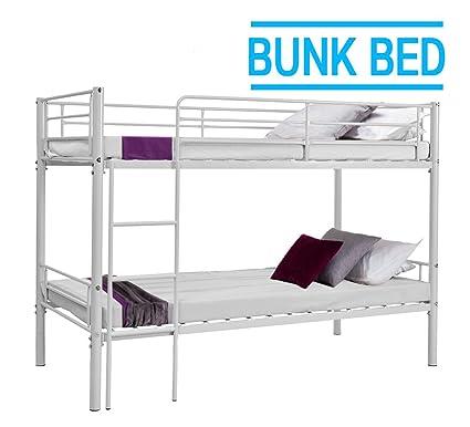 Schindora® - Litera individual de 1 m de metal, dos camas sin colchón