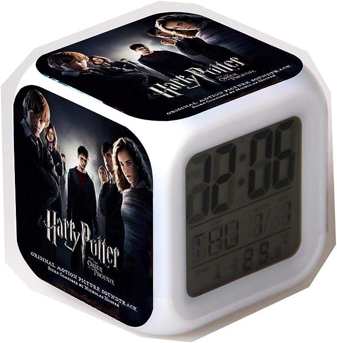 Joycorner/® Luce Notturne Harry Potter Hermione Malfoy Ron Lord LED Orologi Sveglia Alarm Clock Natale Compleanno Regalo Giocattoli C