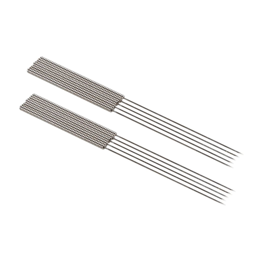 D DOLITY 10 Pcs Flexi-rigid 3D Printer 0.4 mm Stainless Steel Metal Nozzle Cleaning Needle Silver