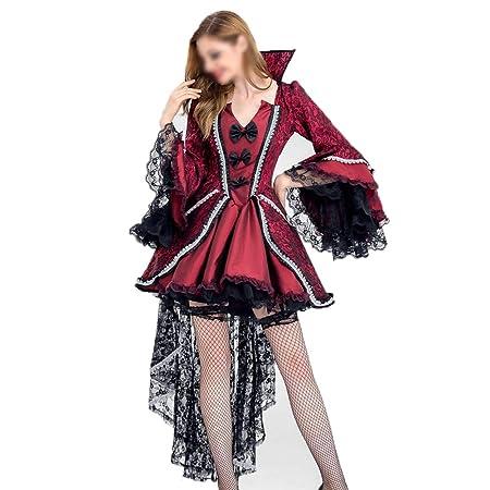 YCLOTH - Disfraz de Vampiro Negro de Halloween para Mujer Tuxedo ...