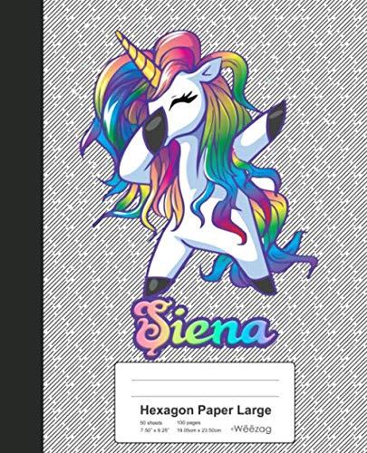 Hexagon Paper Large: SIENA Unicorn Rainbow Notebook (Weezag Hexagon Paper Large Notebook) (Siena Board Game)