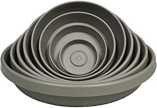 """product image for Bloem Terra Plant Saucer Tray for Planters 15-20"""" Peppercorn"""