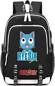 YOYOSHome Anime Fairy Tail Cosplay Laptop Bag Backpack School Bag with USB Charging Port
