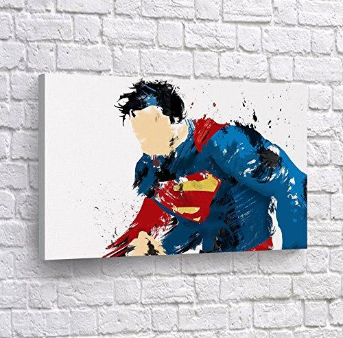 Superman Figure Splash Watercolor Style Digital Painting