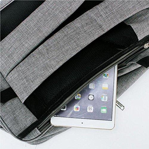 14 Zoll Notizbuch Computer Rucksack Männlich / weiblich Freizeit Geschäft Reisen Leichtgewicht Paket Tragbar Wasserdicht Doppelschicht Studenten Schultasche black