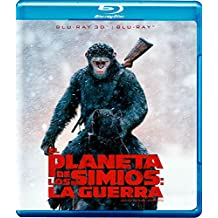 El Planeta de los Simios: La Guerra (War for the Planet of the Apes) BLU-RAY 3D + BLU-RAY (English, Spanish & Portuguese Audio and Subtitles) IMPORT