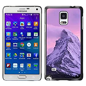 """For Samsung Galaxy Note 4 , S-type Naturaleza Pink Mountain"""" - Arte & diseño plástico duro Fundas Cover Cubre Hard Case Cover"""