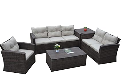 Superb Amour Perth Outdoor Cane Sofa Set Amazon In Garden Outdoors Andrewgaddart Wooden Chair Designs For Living Room Andrewgaddartcom