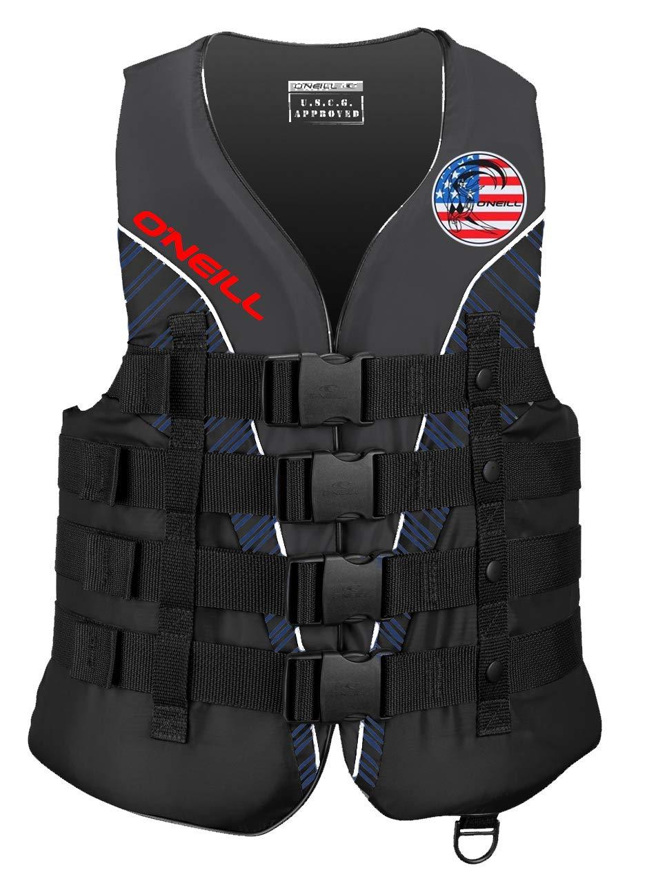 O'Neill Mens Superlite USCG Life Vest 3XL Patriot (4723IA)