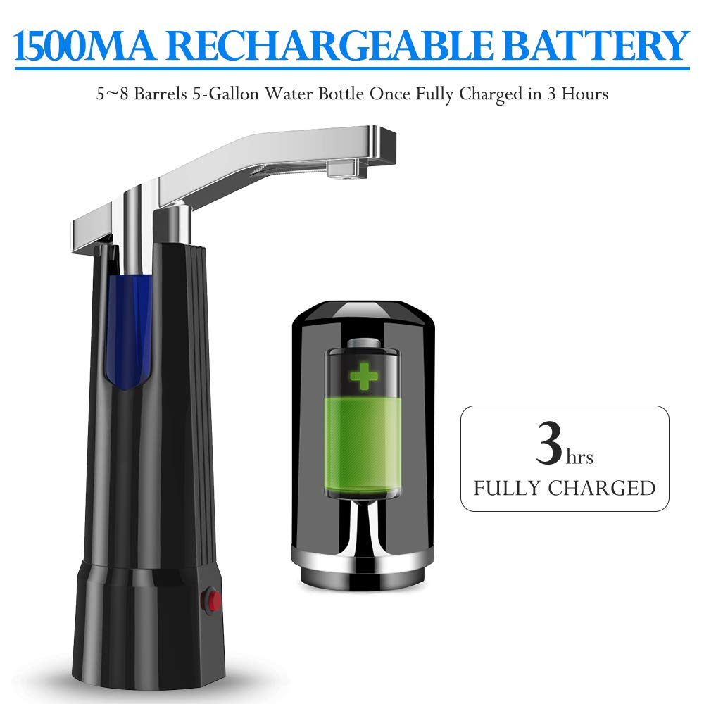 Water Pump Dispenser BMK Electric Gallon Drinking Bottle Water Dispensing Pump with On/Off Switch & Touch Button 2 Working Modes for Home Kitchen Office by BMK BLUEMICKEY (Image #6)