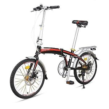 Bicicleta plegable para estudiantes adultos, ligera, 7 velocidades diferentes, bicicleta de 20 pulgadas