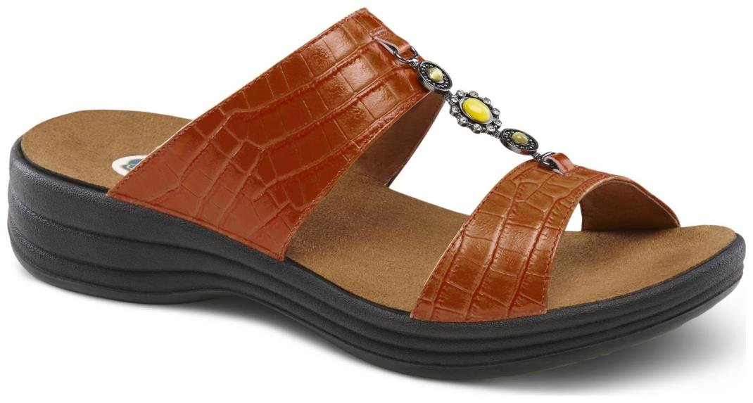 Dr. Comfort Women's Sharon Peanut Brittle Sandals