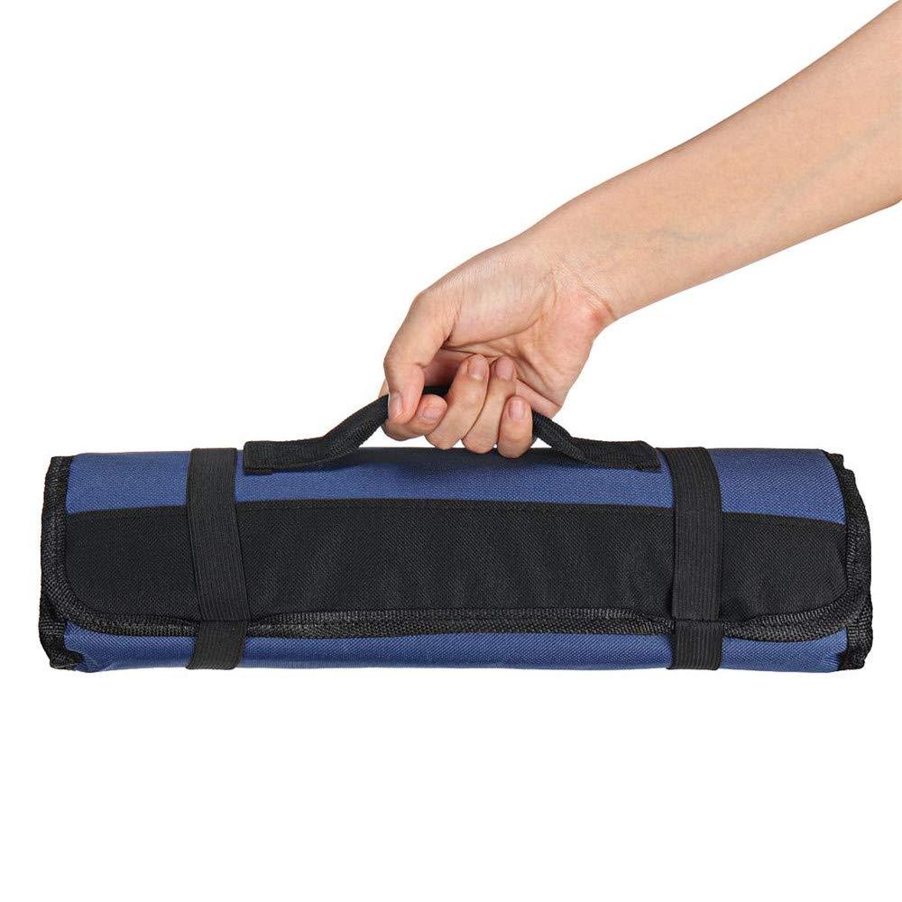 negro Bolsa de herramientas con 22 bolsillos port/átil para almacenamiento de llaves plegables bolsa para reparaci/ón de chef