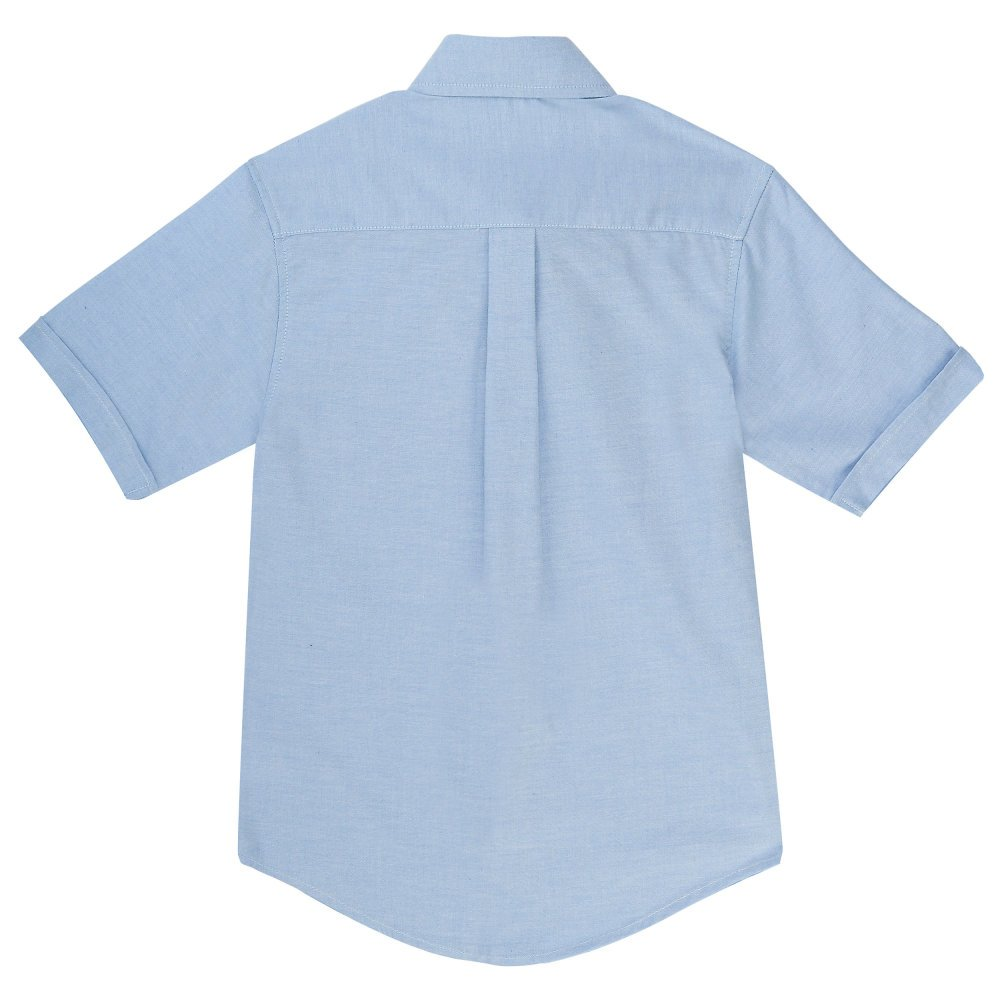 French Toast Boys' Toddler Short Sleeve Oxford Shirt, Light Blue, 3T by French Toast (Image #3)