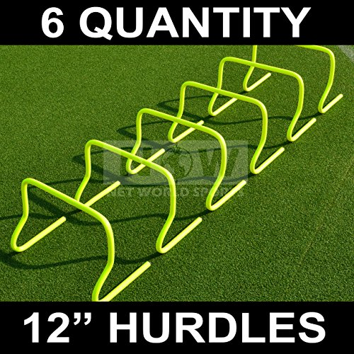 "12"" SPEED HURDLES [6 Qty] - Football/Soccer/Multi Sport Speed Training (12"" Hurdles)"