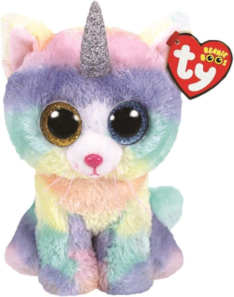 Ty TY36250 Beanie Boos Heather el Gato Unicornio 15 cm: Amazon.es: Juguetes y juegos