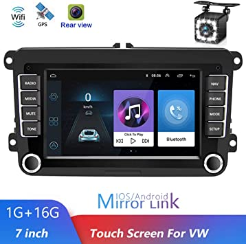 Luckdragon Car Radio With Navigation System For Volkswagen Android Car Navigation Stereo 7 Inch 2 Din Car Radio For Vw Golf Polo Tiguan Passat B7 B6 Seat Leon Skoda Octavia Auto