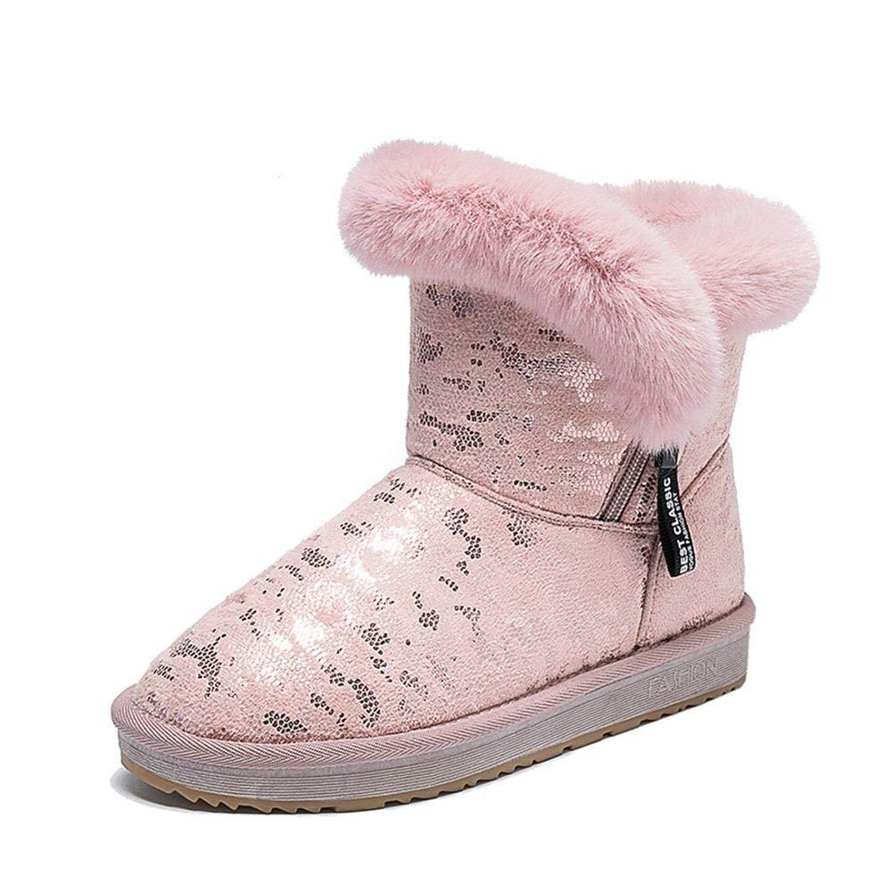 QLG Damenstiefel Stiefel Frauen Schneeschuhe Winter Weibliche Stiefeletten Stiefeletten Stiefeletten Warmer Damen Kurze Röhre Baumwolle Schuhe Verdicken Damenschuhe 974e7e
