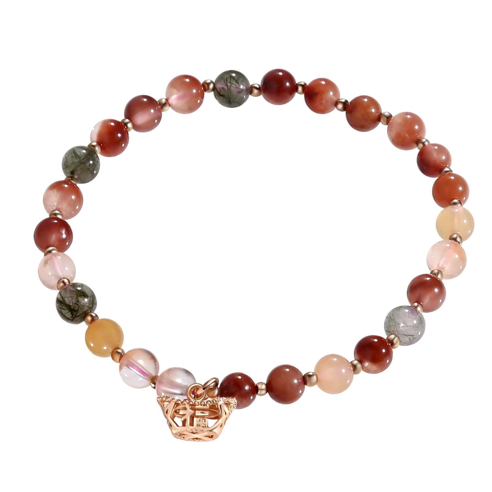 Beydodo Anklets with Colored Stones Beach Foot Jewelry Wedding Multicolor Beads with Charms
