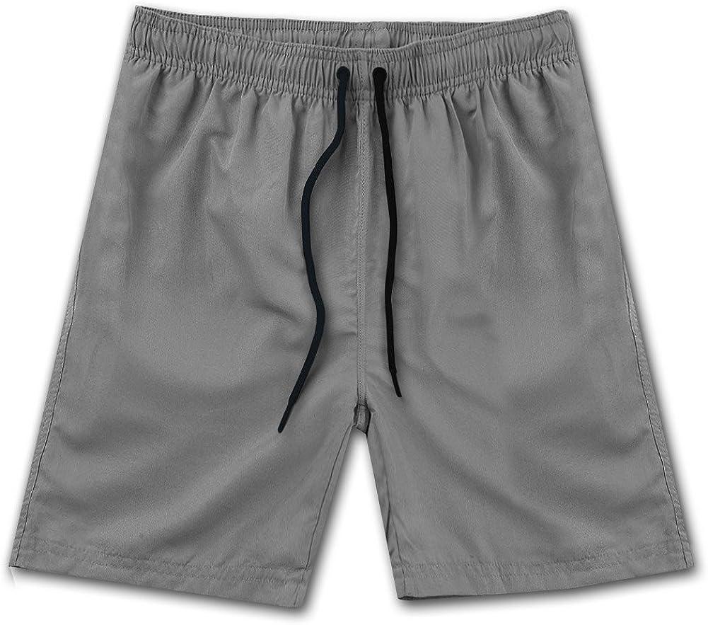 ZENRICK 9'' Men's Quick Dry Plain Swim Trunks Bathing Suit Beach Shorts Without Pocket Whoelsale 1/4 /20/50piece