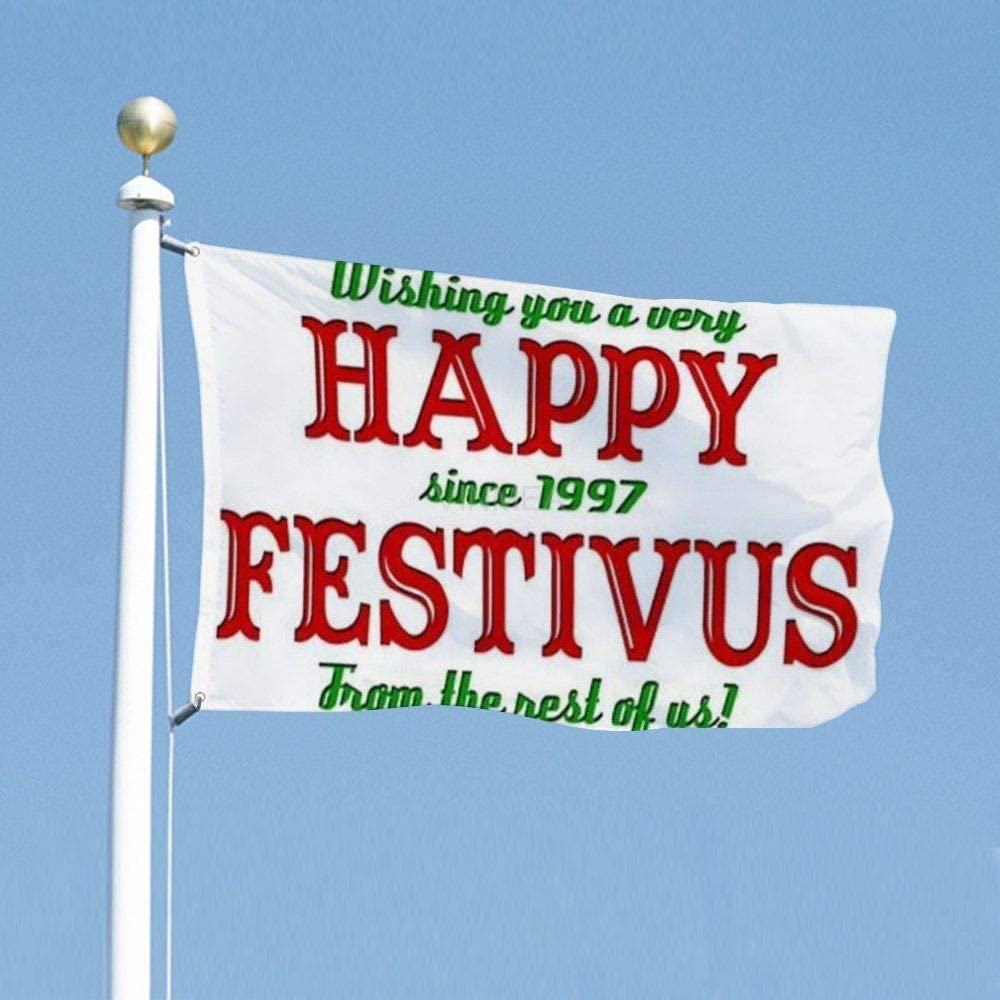 VinMea Funny Flags Merry Festivus, Decoration Flag for Dorms Room Garden Yard 3x5 Feet / 35x59 Inch