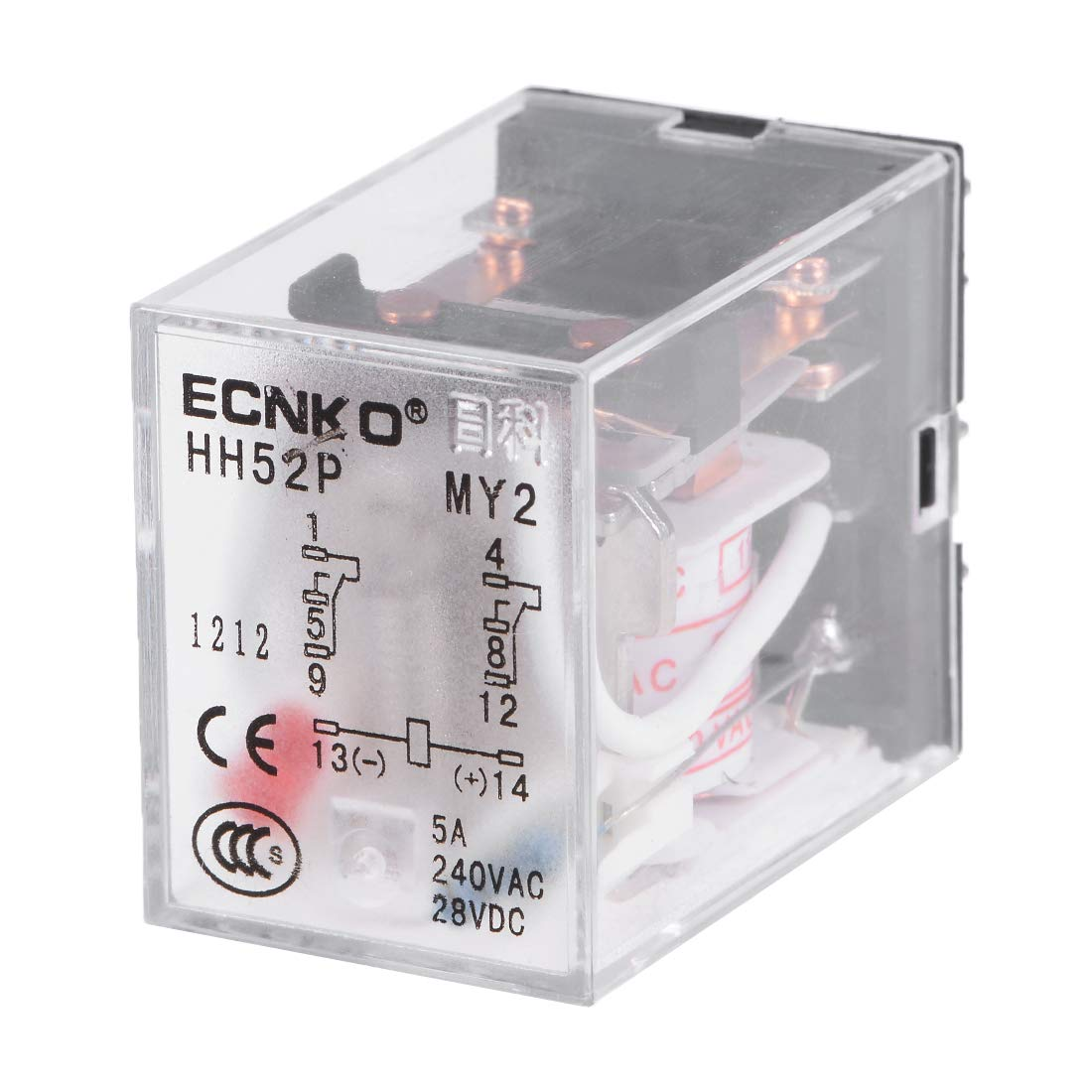 uxcell HH52P AC 110V Coil DPDT 8 Pins Electromagnetic Power Relay Red LED