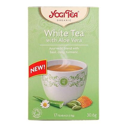 Yogi Tea White Tea with Aloe Vera 17pcs: Amazon.es: Salud y ...