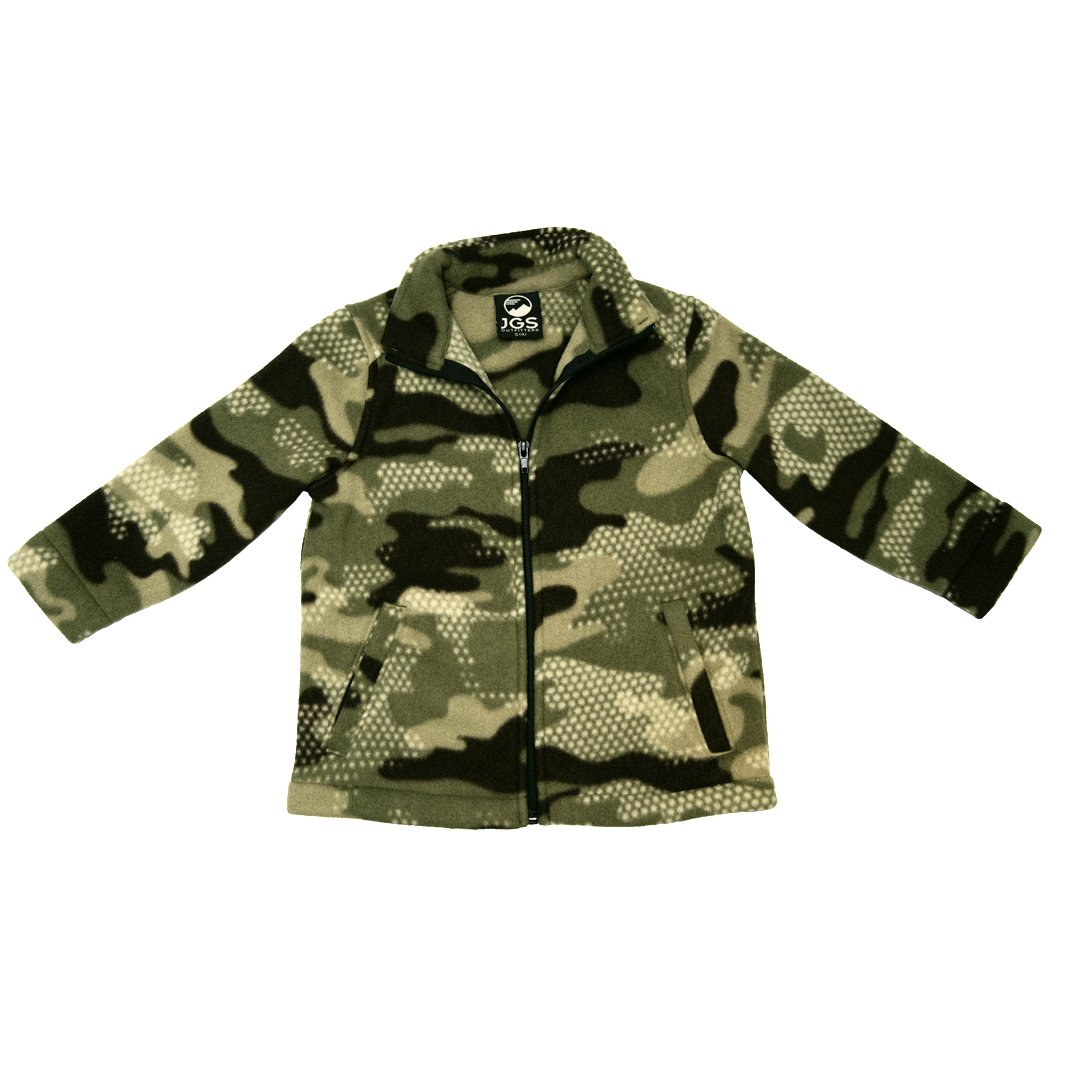 Fleece Zip-up Jacket Camouflage Print SnowStoppers