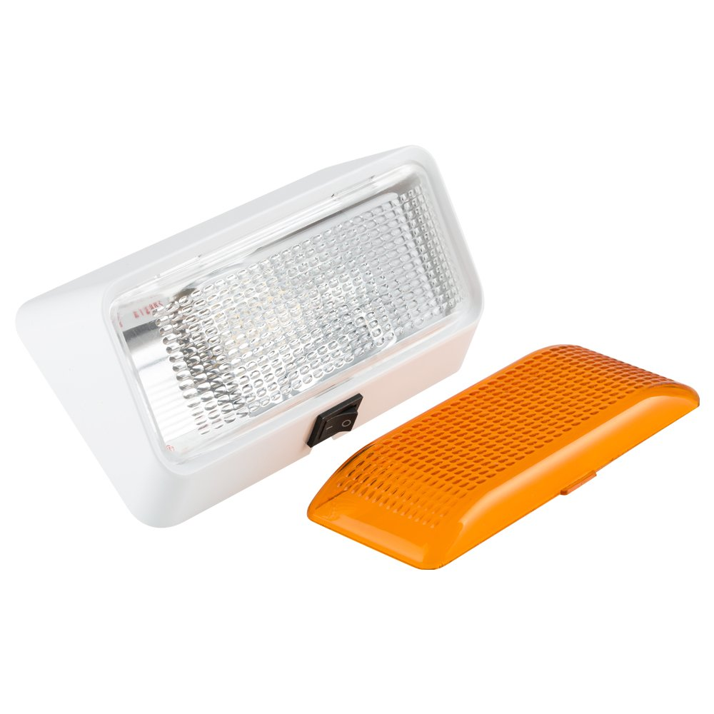 Com Lumitronics Led Rv Exterior Porch Light With On Off Switch And Removable Clear Amber Lenses Perfect Outside Replacement 12v Lighting For Rvs