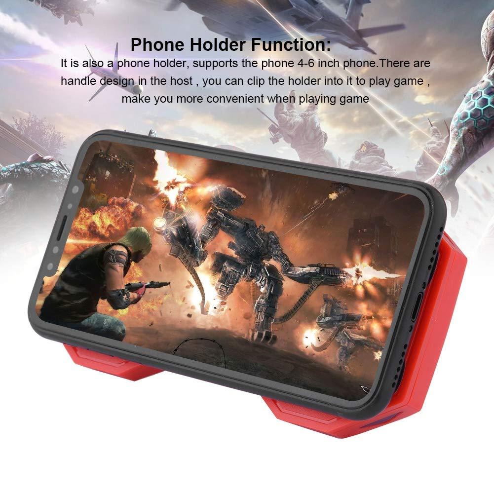 Negro Vbestlife 3 en 1 Enfriamiento Ventilador de Gamepad de Tel/éfono Celular Radiador De Tel/éfono M/óvil Manija con Soporte de Juego Banco de Potencia Cargador 2000mAh