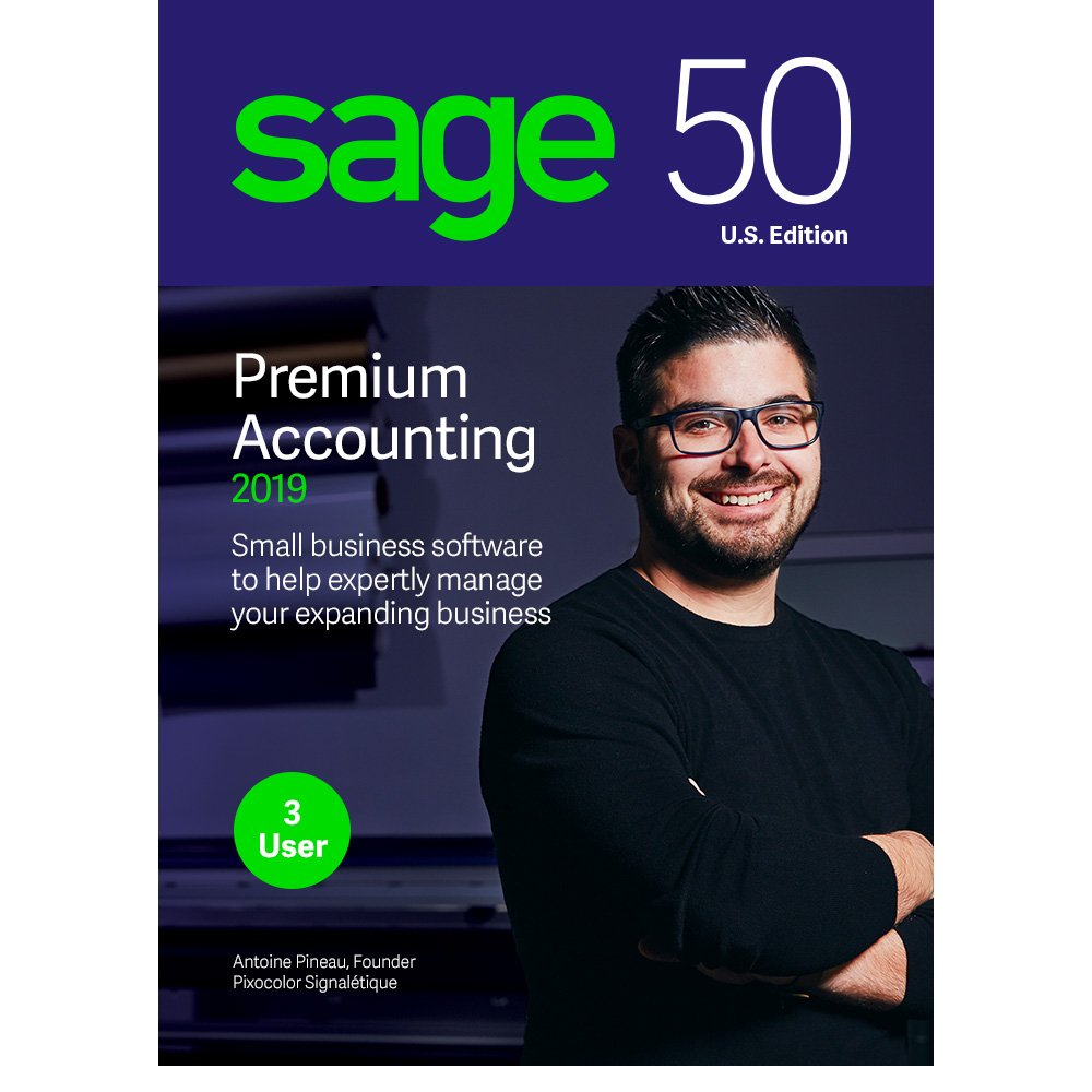 Sage Software 50 Premium Accounting 2019 - Advanced Accounting Software - Safe and Secure - Inventory Tracker - Manage Jobs & Expenses - Multi-User Capable by Sage Software